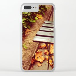 bryant park cafe chair Clear iPhone Case