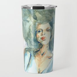 Green lady Travel Mug