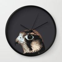 falcon Wall Clocks featuring falcon by Renad