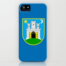 Flag of Zagreb iPhone Case