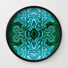 Abstract #1 - III - Mint Green Tea Wall Clock