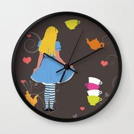 Alice in Wonderland tea party print Wall Clock
