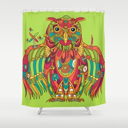 Owl, cool art from the AlphaPod Collection Shower Curtain