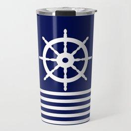 AFE Navy & White Helm Wheel Travel Mug