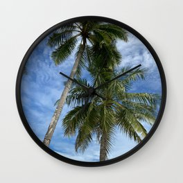 Tall Palm Trees Wall Clock