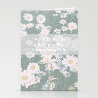 snape Stationery Cards featuring Love me like Snape loved Lily by Kat Heroine