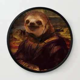 Sloth  Mona Lisa Wall Clock