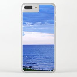 Blue on Blue at the River Mouth Clear iPhone Case