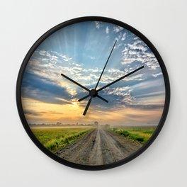 Level B Morning 2 Wall Clock