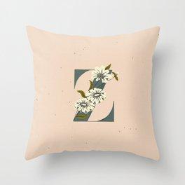 Z for Zinnia Throw Pillow