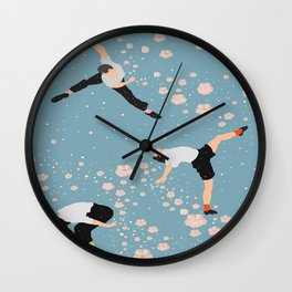 how snow falls Wall Clock