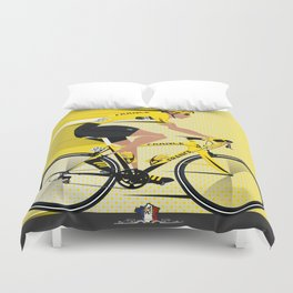 France Yellow Jersey Duvet Cover