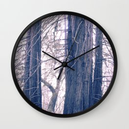 gentle pink rewoods Wall Clock