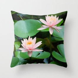 Slow Down, Find Center Throw Pillow
