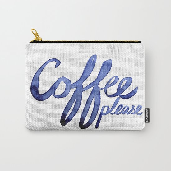 Coffee Please Drinks Caffeine Typography Coffee Lovers Carry-All Pouch