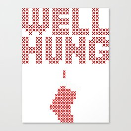 Well Hung Stocking Canvas Print