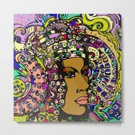 Lady of Elche (rainbow) Metal Print