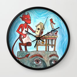 An Idle Mind Is The Devil's Workshop Wall Clock