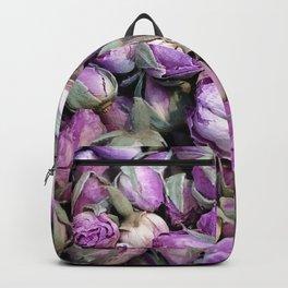 Purple Rosebuds Backpack