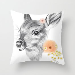 Flora & Fawn Throw Pillow