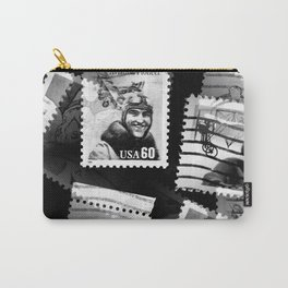 Nostalgic Stamps In Black And White #decor #society6 #homedecor Carry-All Pouch