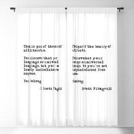 The beauty of all literature - F Scott Fitzgerald Blackout Curtain