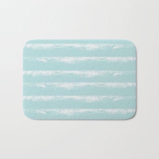 Irregular Stripes Mint Bath Mat
