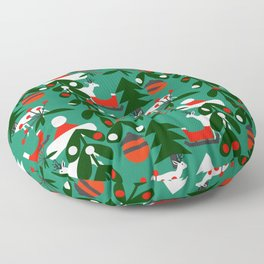 Christmas evergreens Floor Pillow