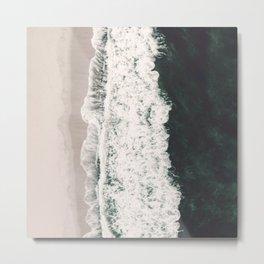 Teal And Lace Ocean And Seashore Metal Print