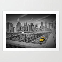 BROOKLYN BRIDGE Manhattan View Art Print