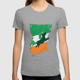Distressed Irish Flag Unicorn St Patricks T-shirt