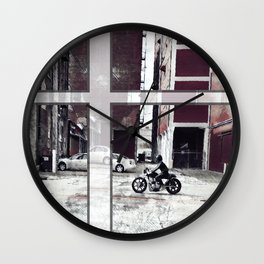 Ride in the West Bottoms District Wall Clock