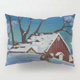 Altered Painting - Dino Snow Pillow Sham