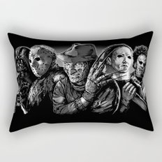 Freddy Krueger Jason Voorhees Michael Myers leatherface Darth Vader Blackest of the Black Rectangular Pillow