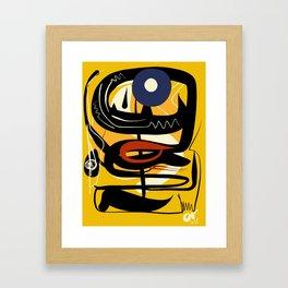 Street Art Yellow African Graffiti Framed Art Print