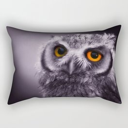 Sleepy Owl Rectangular Pillow