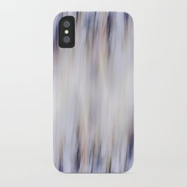 Washed out blue iPhone Case