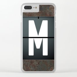 monogram schedule m Clear iPhone Case