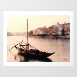 The Duoro at Sunset Art Print