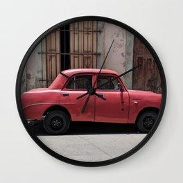 Cuban Red Car Wall Clock