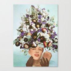 Floral Fashions III Canvas Print