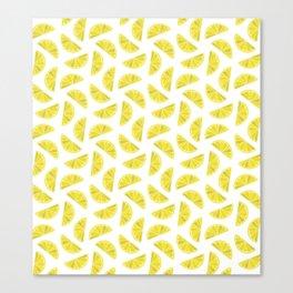 Lemon Wedges Canvas Print