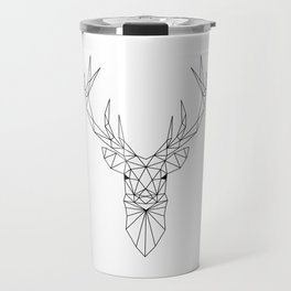 Geometric Deer Head Travel Mug