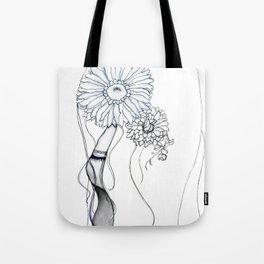 Flower Hair Tote Bag