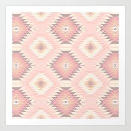 Pastel Pink & Coral Navajo Art Print