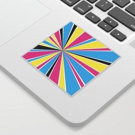 CMYK Star Burst Sticker