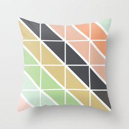 Retro Geometric Triangle Pattern Throw Pillow