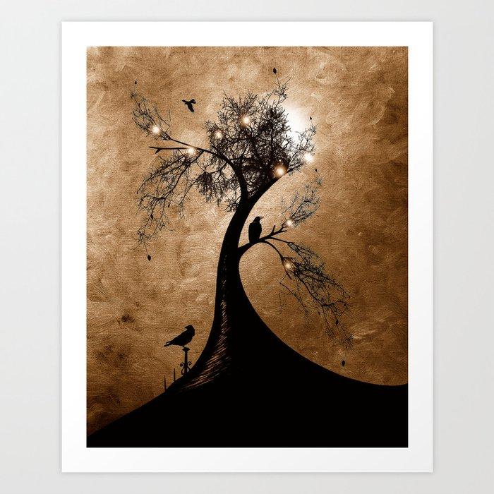 Raven christmas II - HOLIDAZE Art Print
