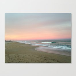 Blue sky fading into pink Canvas Print