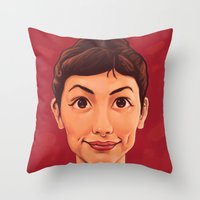 amelie Throw Pillows featuring Amelie by Dale C Bowers